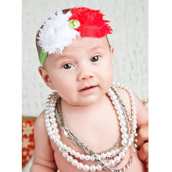Baby Nice Flowers Rhinestone Pearl Headwear Headband YTR02