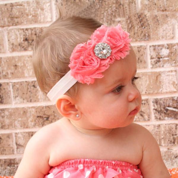 Baby Nice Flowers Rhinestones Headwear Headband YTR05