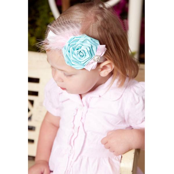 Baby Nice Flower Feather Bowknot Rhinestone Pearl Headwear Headband YTR09