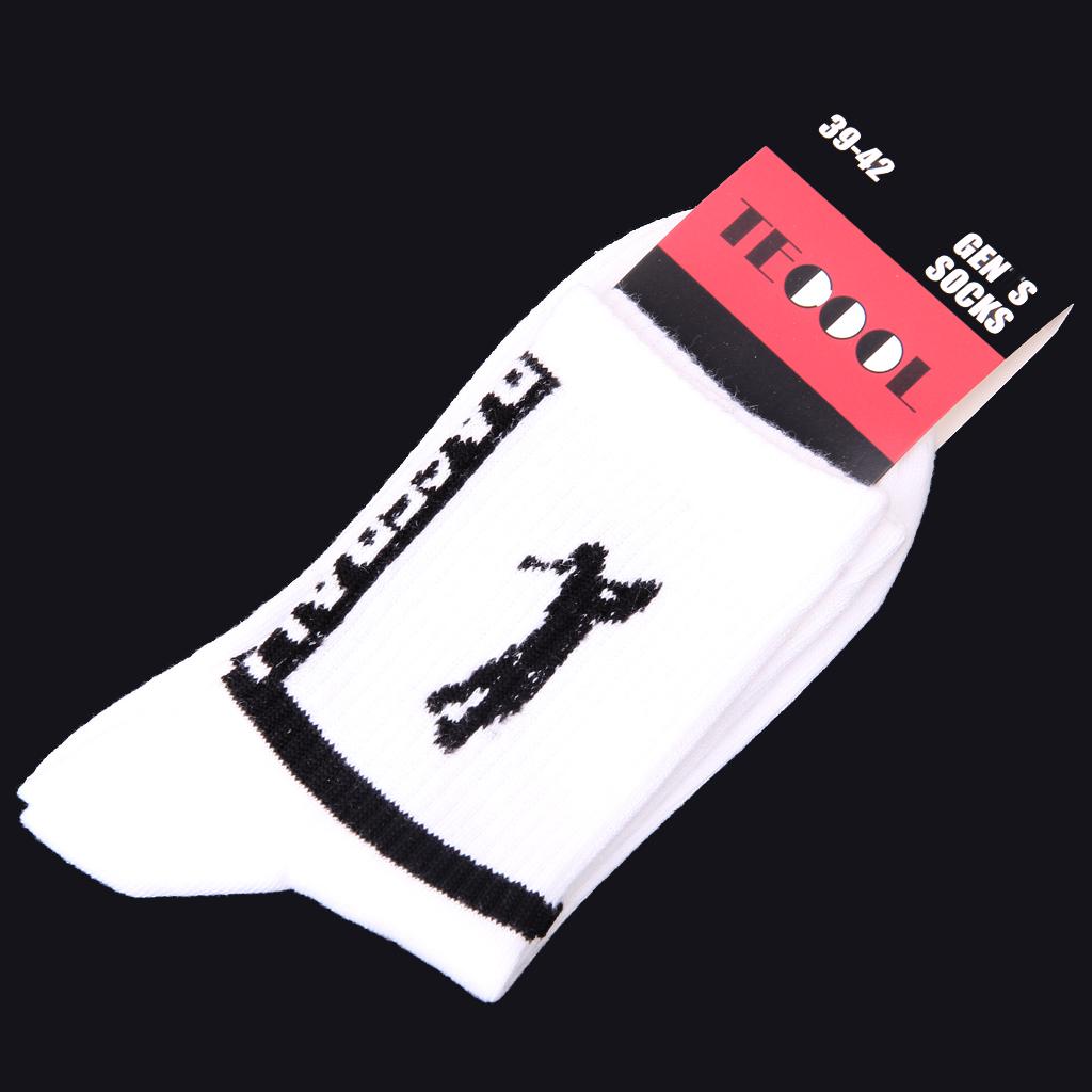 White Cotton Baseball Athletic Sport Crew Socks for Men US Size 9.5 - 11