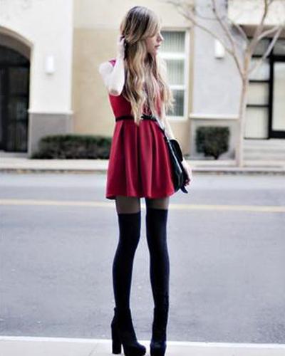 Sexy Girls Black Hosiery Pantyhose Legging Tights 30D
