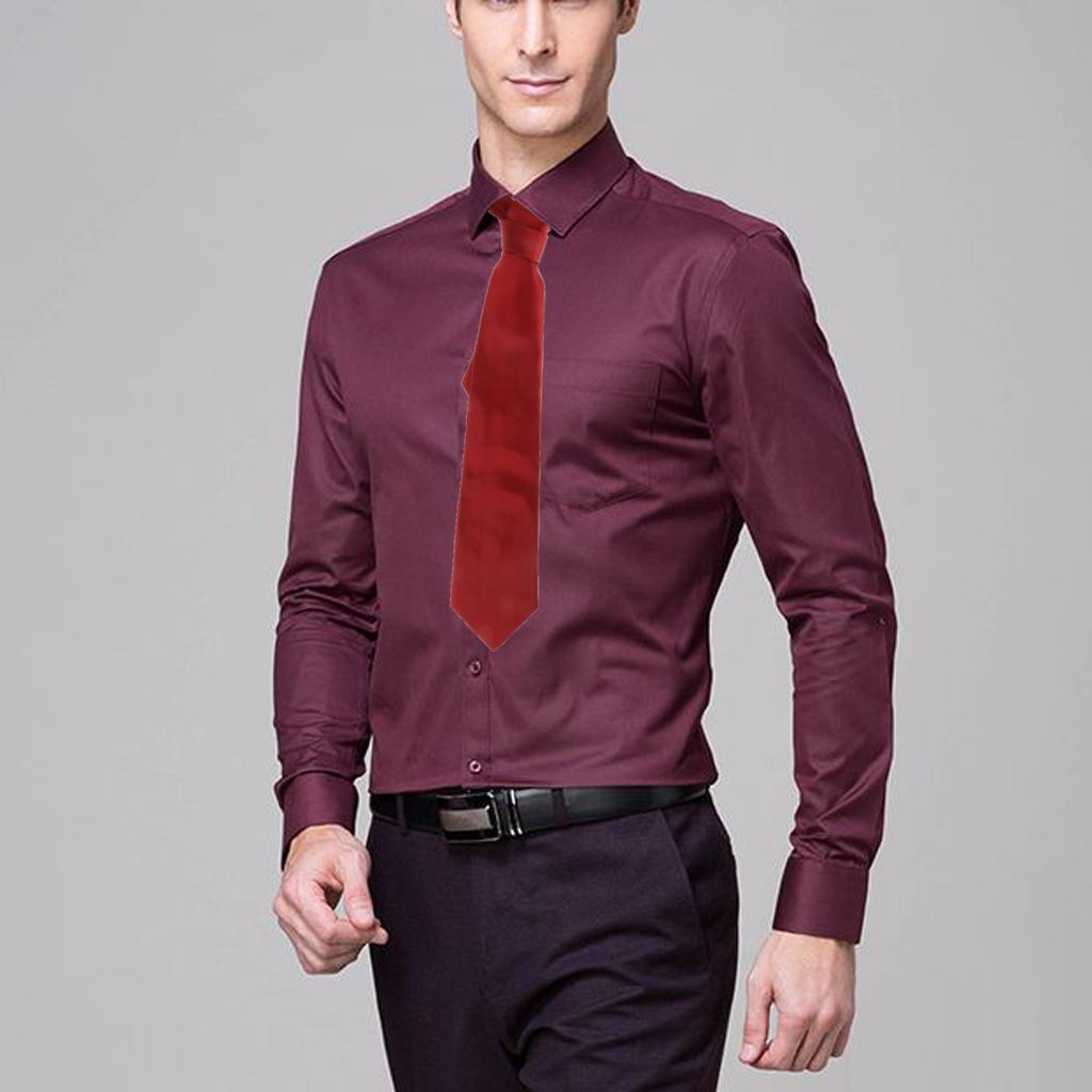 Classic Pure Color 10cm Jacquard Woven Fine Grids Men's Tie Necktie Maroon New