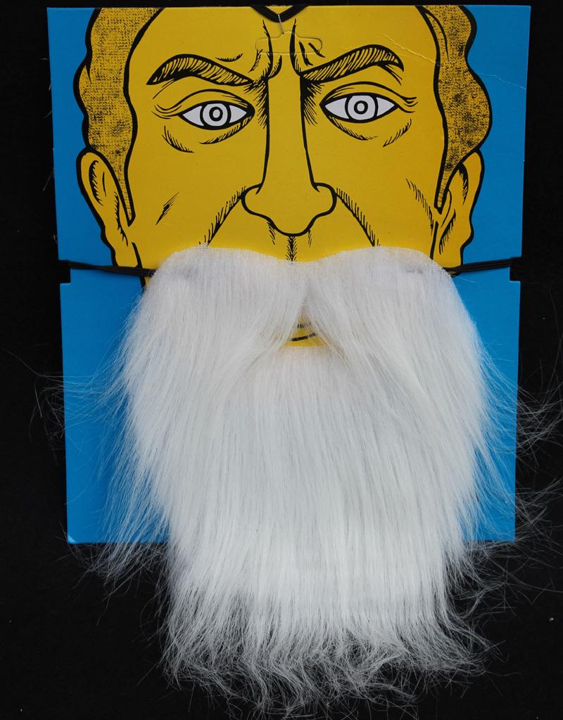 Fancy Dress Pirate Dwarf Elf Fake Beards - White