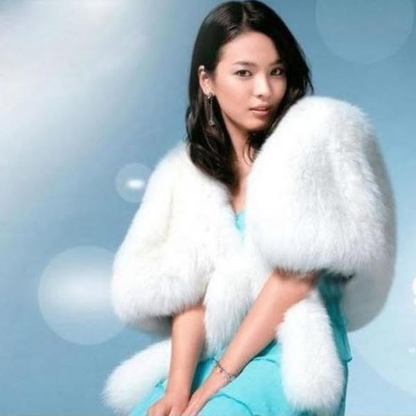 Elegant Bridal Bridesmaids Wedding Shawl Faux Fur Party Dress Shawl Style Warm Coat w/ Long Tails White