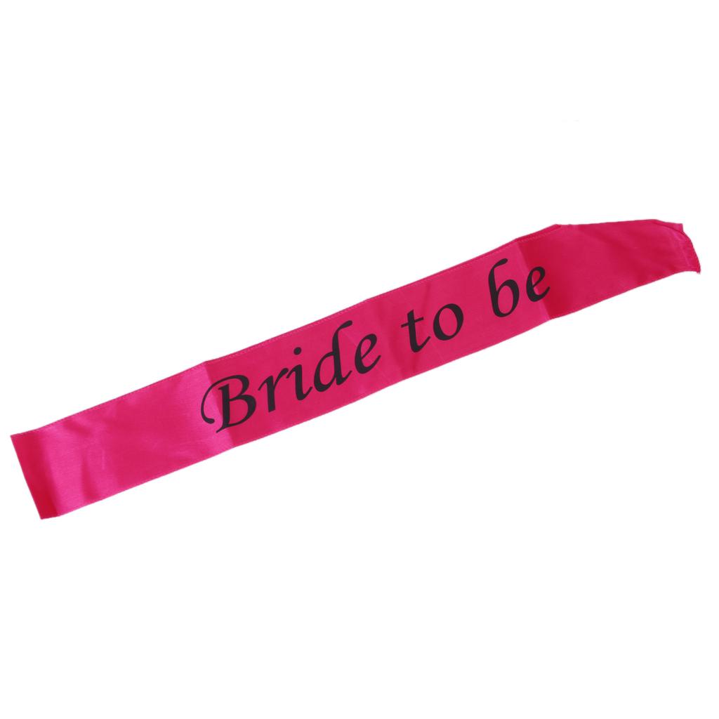 Bride to be Writting Hot Pink Sash Hens Night Wedding Shower