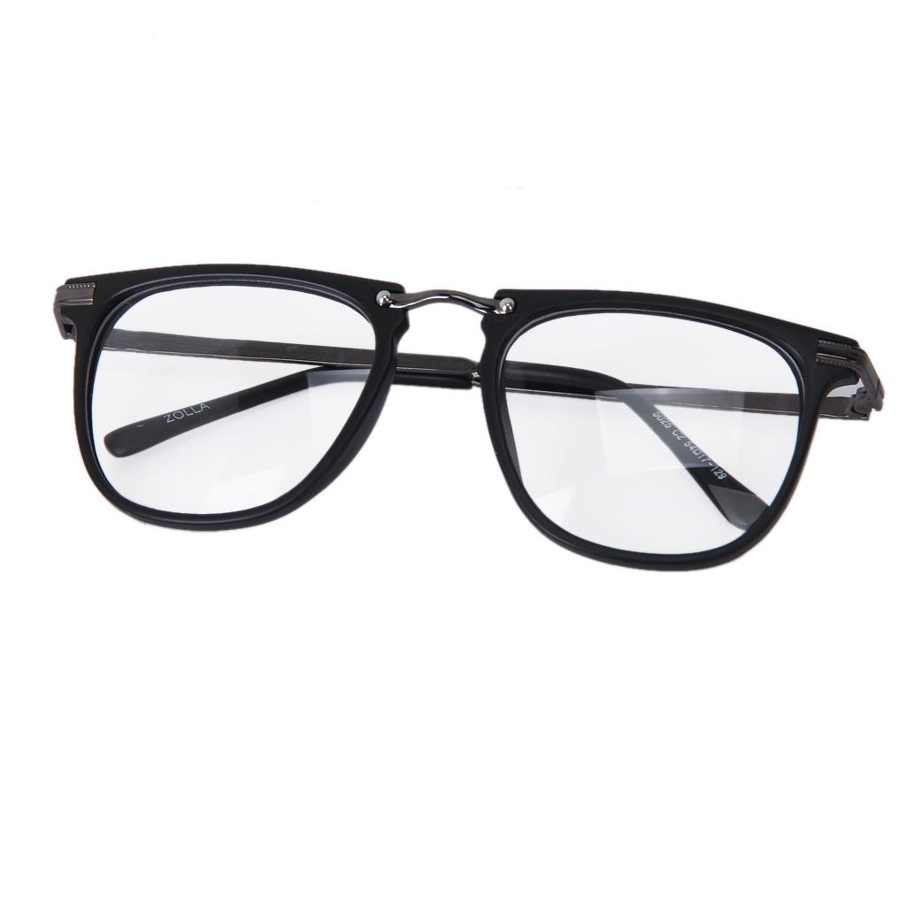 Retro Fashion Black Frame Clear Lens Square Sunglasses Eyeglasses Glasses