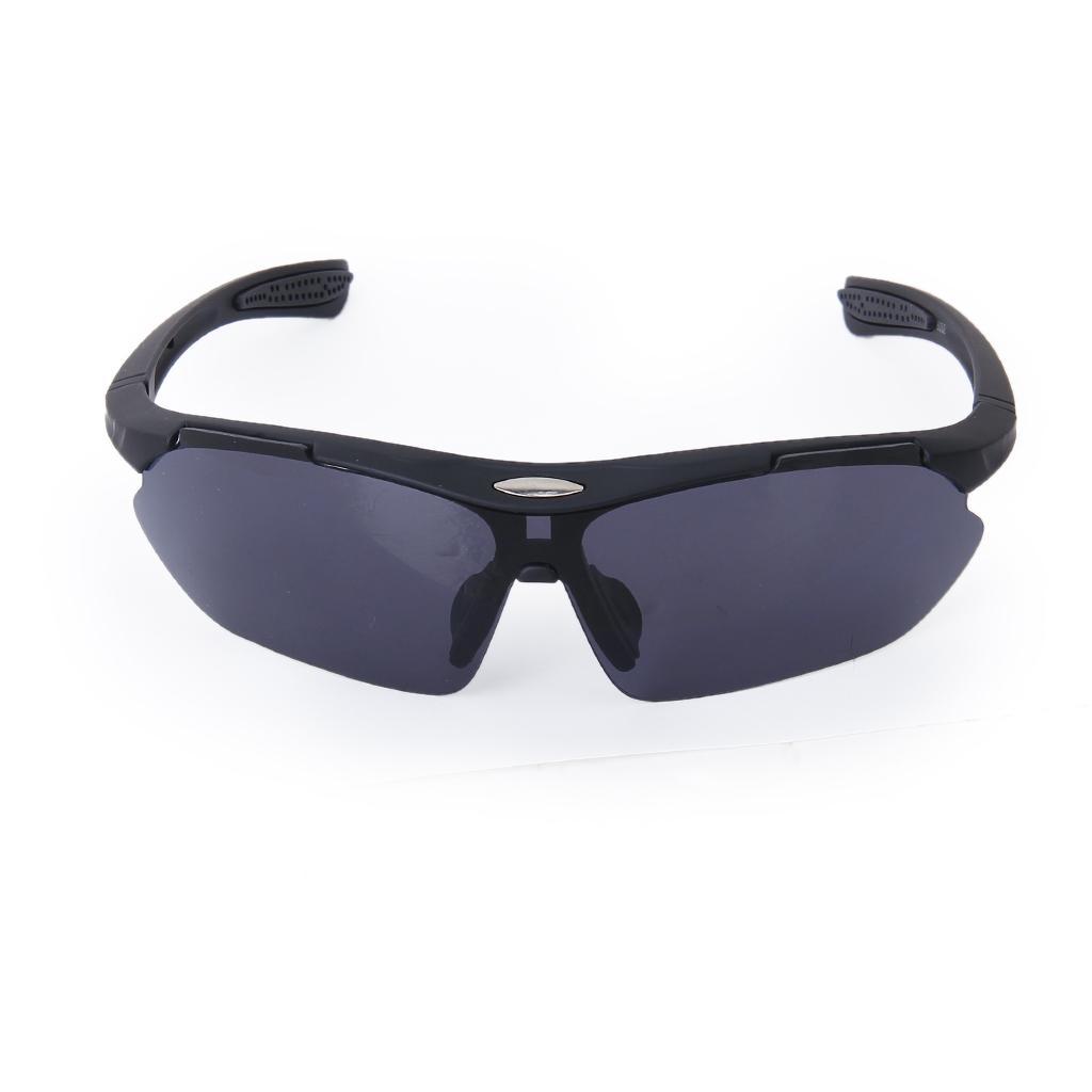 Men's Fashion Half Frame Biker Fishing Sunglasses Eyeglasses Glasses - Matte Black