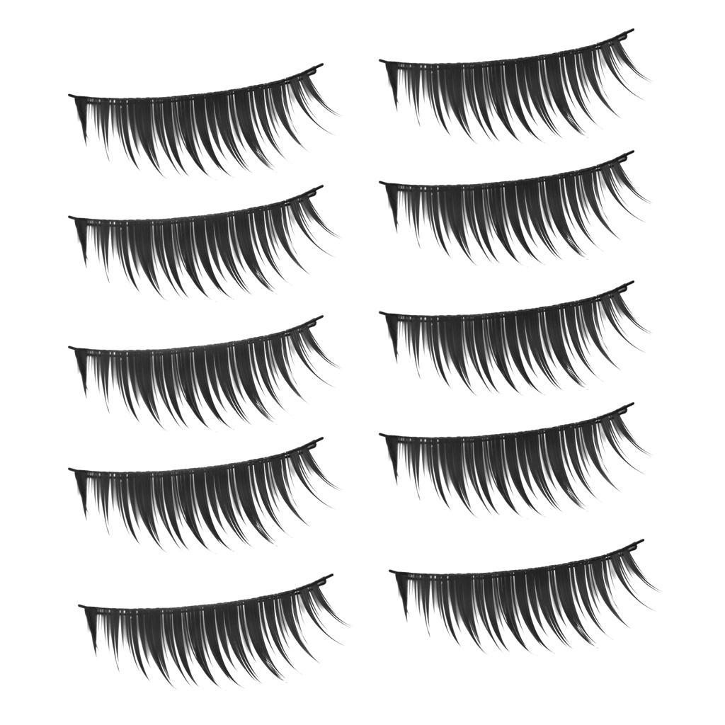 10 Pairs Long Black False Eyelashes 113#