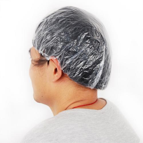 100Pcs Disposable Clear Shower Hair Caps for Spa Salon