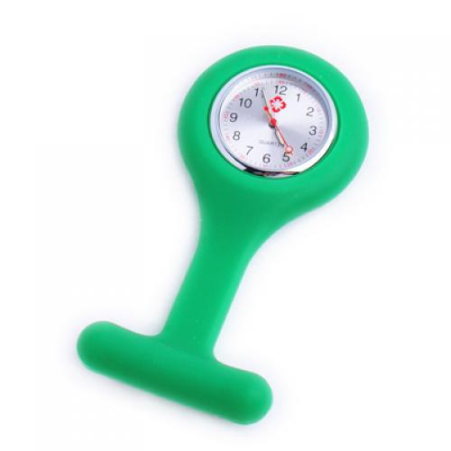 Green Silicone Nurses Brooch Fob Watch
