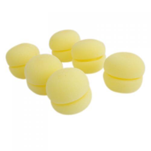 Magic Soft Sponge Hair Care Roller Curler - Yellow