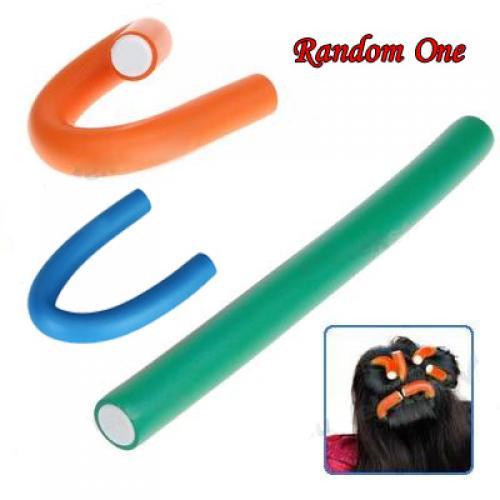 New Soft Bendy Hair Rollers Foam Curler 20mm Large Random Color