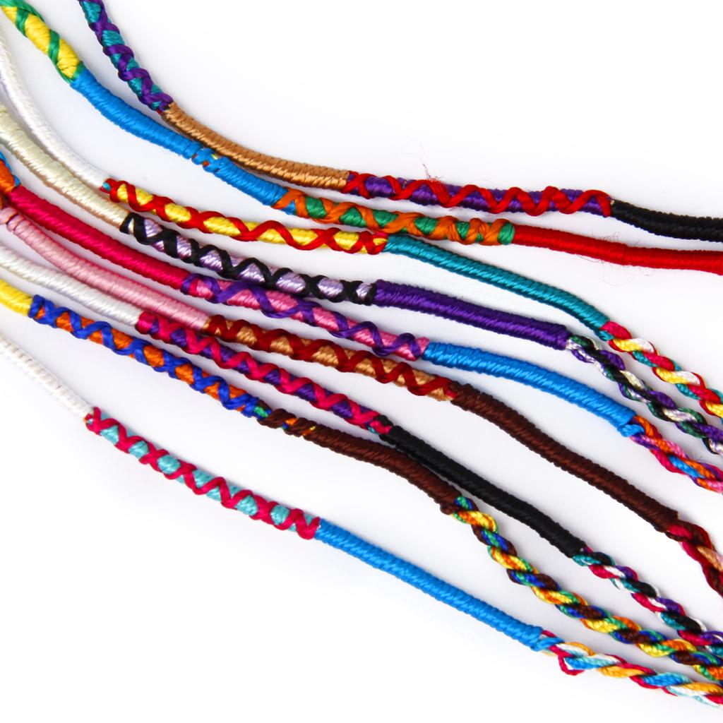 9pcs Handmade Braided Friendship Bracelets Wrist Ankle Bracelets Style 1