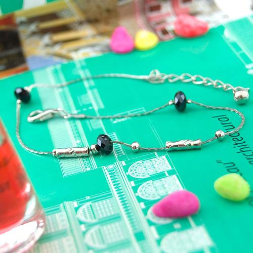 Fashionable Chain Black Beads Anklet Ankle Bracelet F6