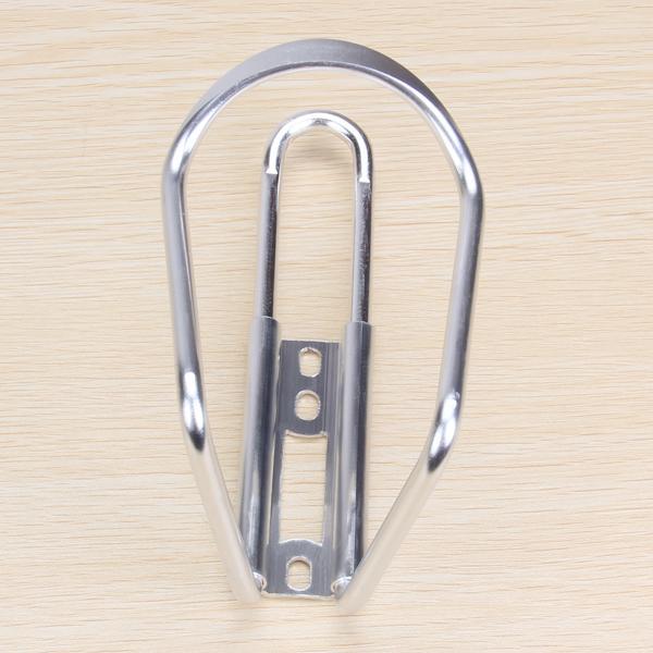 Aluminum Bicycle Handlebar Water Bottle Kettle Rack Cage Holder - Silver-tone