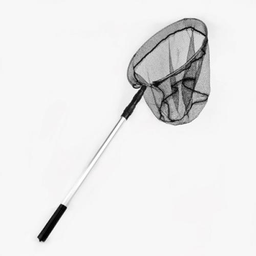 Black Aluminum Alloy Telescopic Detachable Handle Fishing Fish Folding Landing Net
