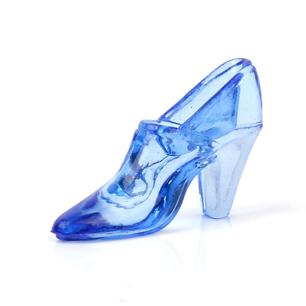 High-heel Shoe Finger Ring Showcase Display Holder Stand - Blue