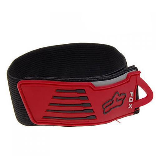 2pcs Velcro Leg Pants Band Strap for Biker Racer - Black and Red
