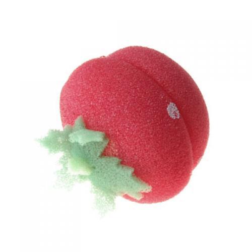 12 x Soft Sponge Hair Care Strawberry Roller Curler - Red