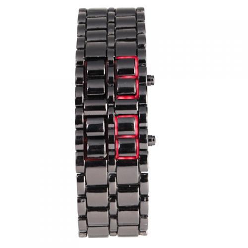 Red LED Digital Lava Style Men Sport Watch