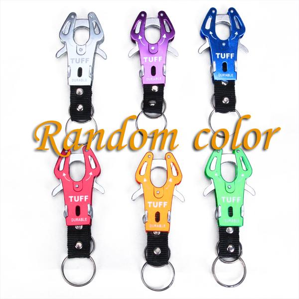 6 x Carabiner Clip Climb Hook Lock Keyring Keychain