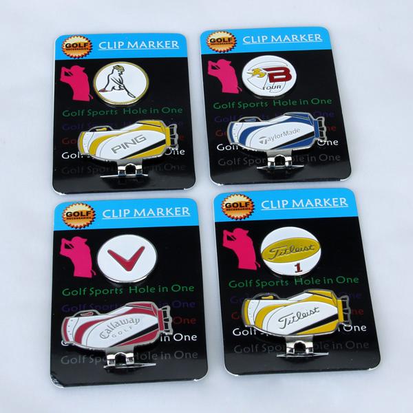 Magnetic Golf Ball Marker Hat Clip Set