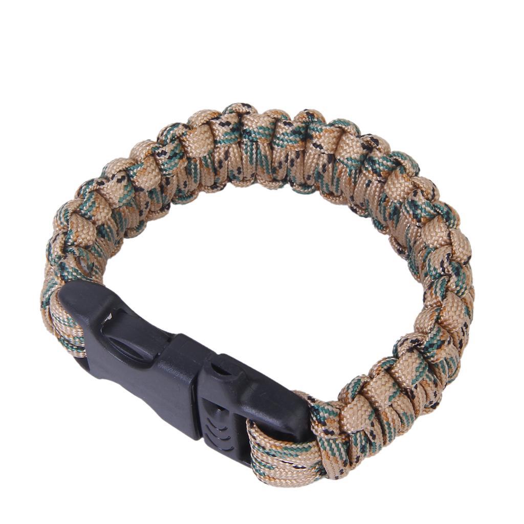 Paracord Parachute Cord Survival Bracelet - Desert Camo