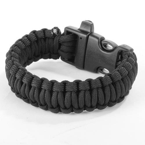 Paracord Parachute Cord Survival Bracelet - Black