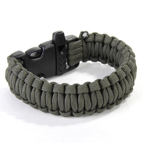 Paracord Parachute Cord Survival Bracelet - OD Green