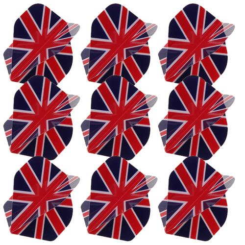 9x UK Flag Dart Flight