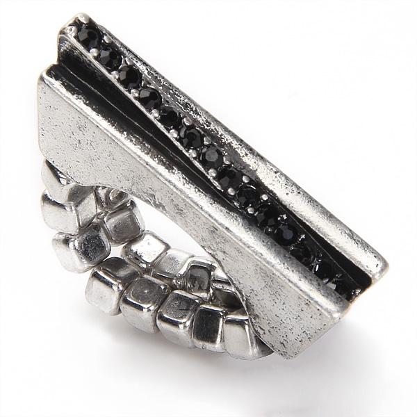 Punk Geometric Pattern Vintage Silver Tone Ring