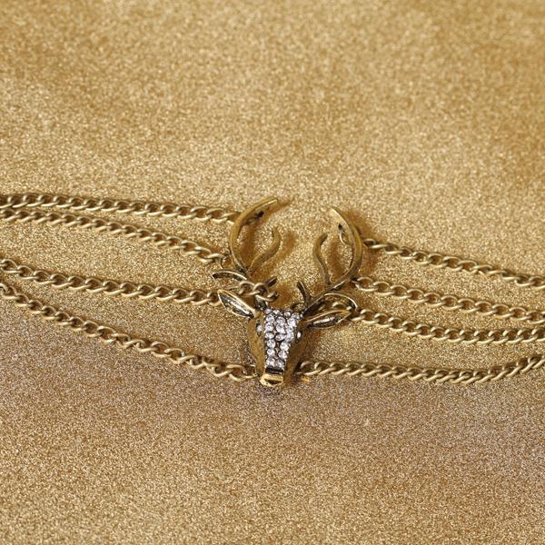 Reindeer Chain Fashion Bracelet Wrist Wrap Chain Bracelet
