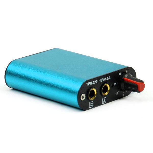 Alloy Casing Mini Tattoo Power Supply AU Plug - Blue
