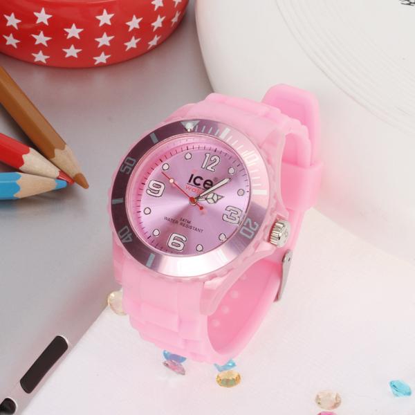 Silicone Unisex Sport Wrist Watch Pink