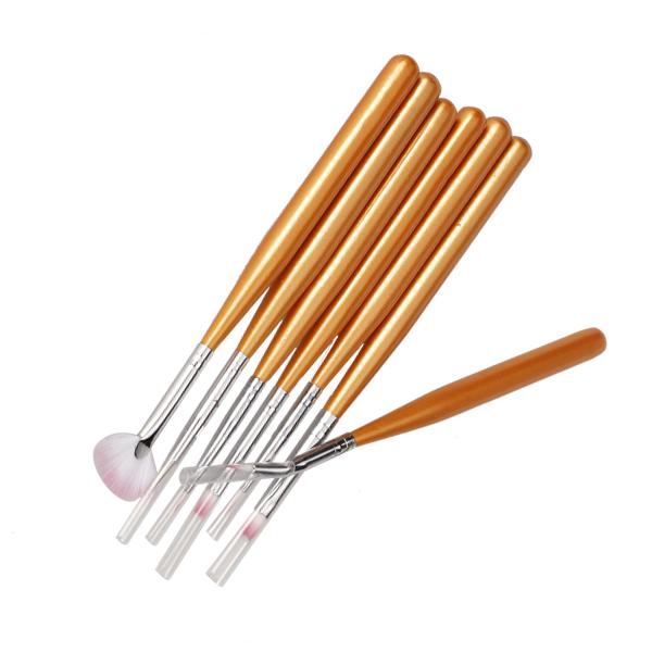 7 PCS Nail Art Painting Design Brush Set Nail Art Tips Design Pen Brush Painting Drawing Salon Tools Set