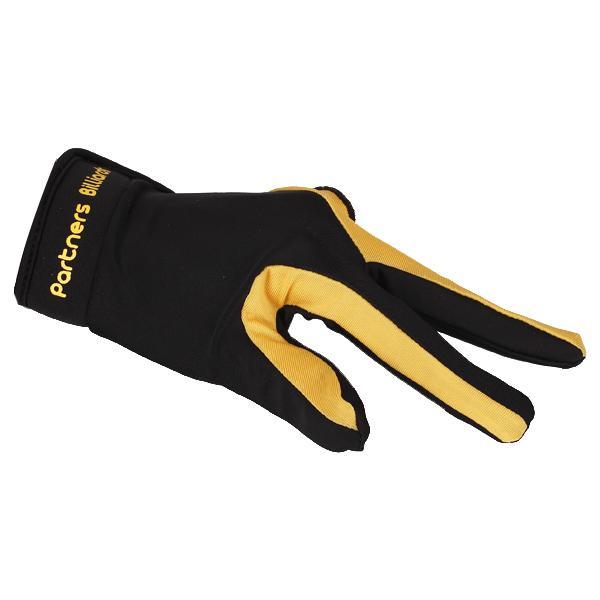 1 Piece Yellow Black 3 Finger Billiard Glove