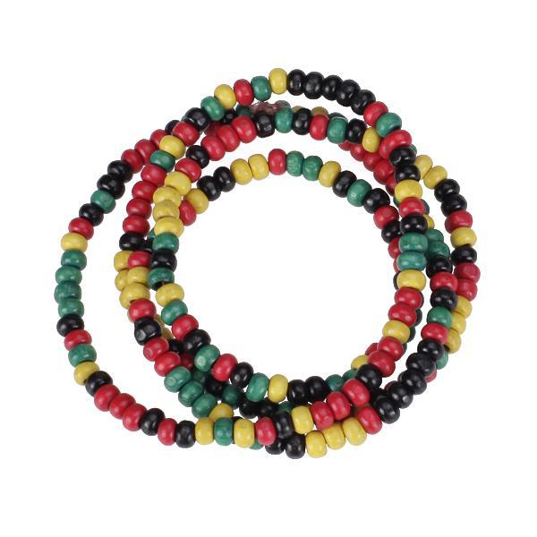 Multicolor Wood Beaded Necklace/Bracelet Jamaica Reggae Hiphop Style