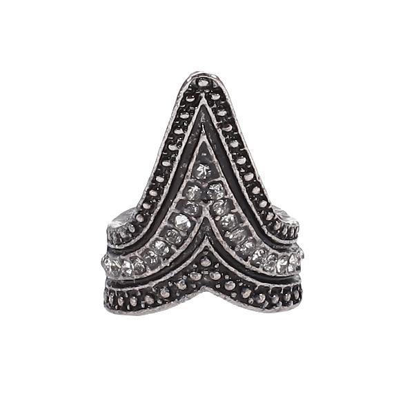 Vintage Punk Style Awl Rhinestones Ring