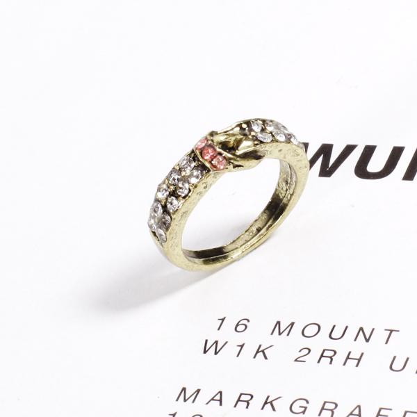 Bronze Rhinestone Belt Style Finger Ring