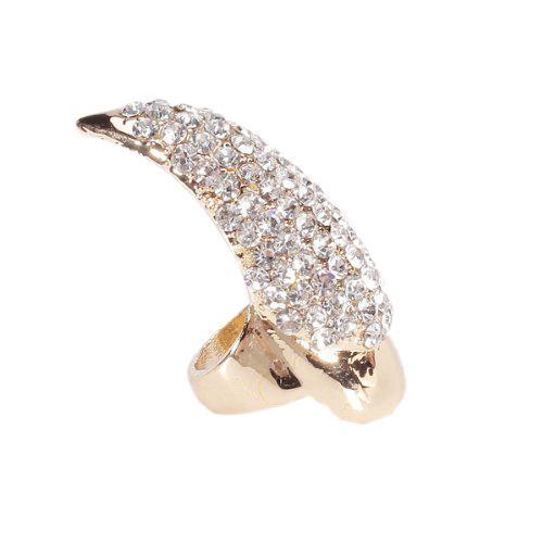 Euramerican Punk Style Rhinestone Claw Bend Fingernail Ring