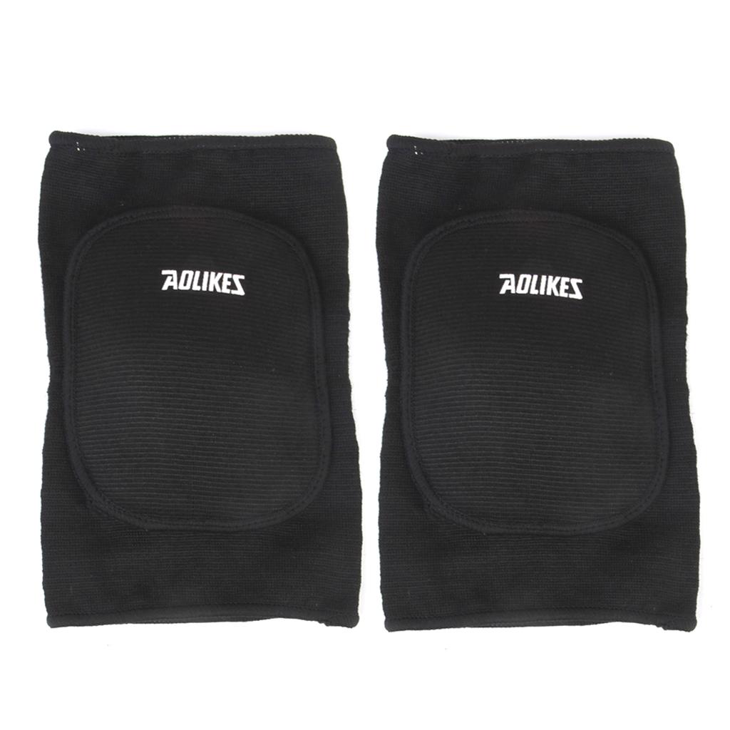 Elasticated Knee Guard Foam Pad Knee Support Knee Protector - Black