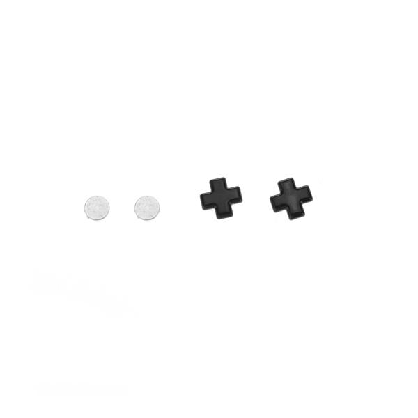 1 Pair Cross Magnetic Studs Earrings
