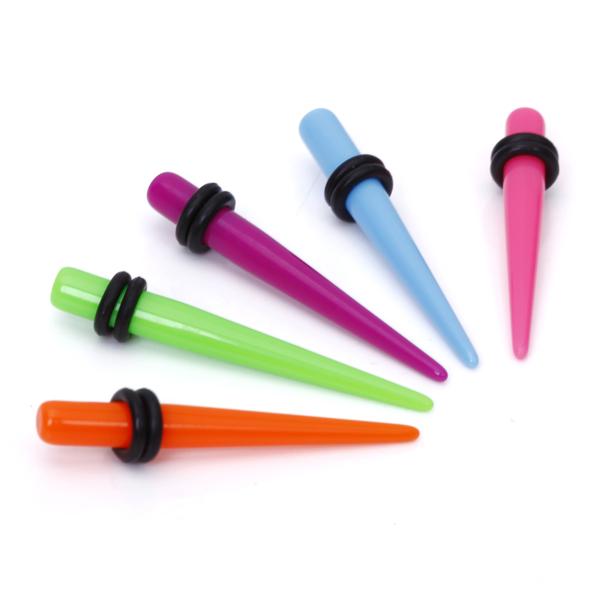 5pcs 4G Colorful Acrylic Ear Stretcher Expander Taper Plug 5mm