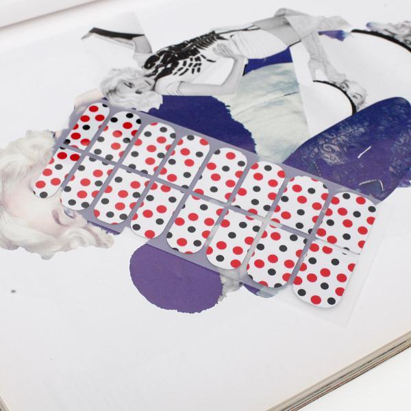16Pcs Manicure Pedicure Nail Art Nail Foils Nail Stickers Nail Foil Patch Nail Decals - Polka Dots