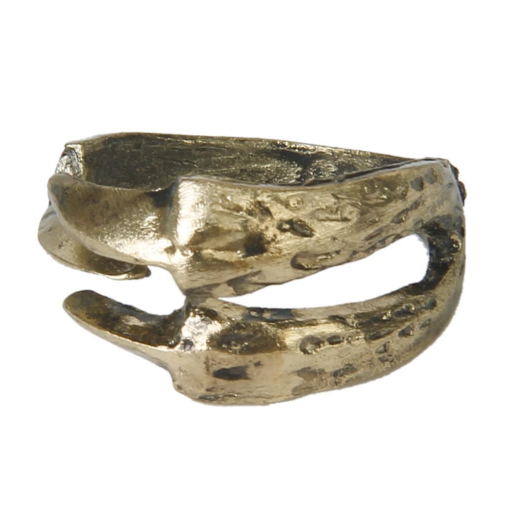 Antique Bronze Retro Style Punk Eagle Bird Claw Talon Ring