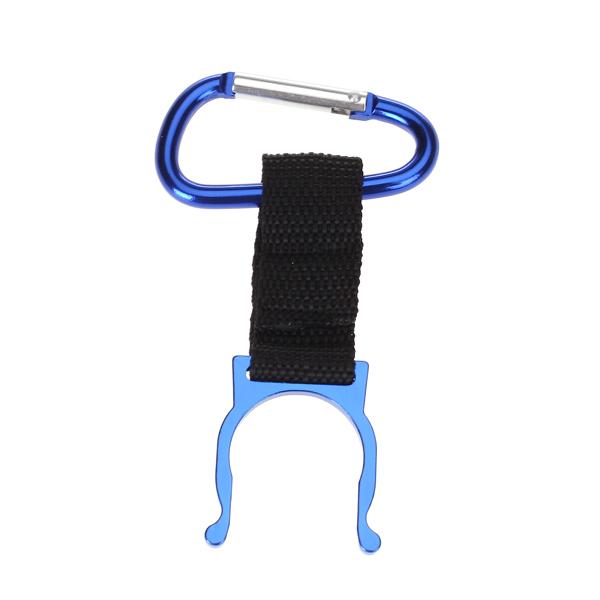 Practical Carrying Water Bottle Holder Carabiner Hook Buckle - Blue