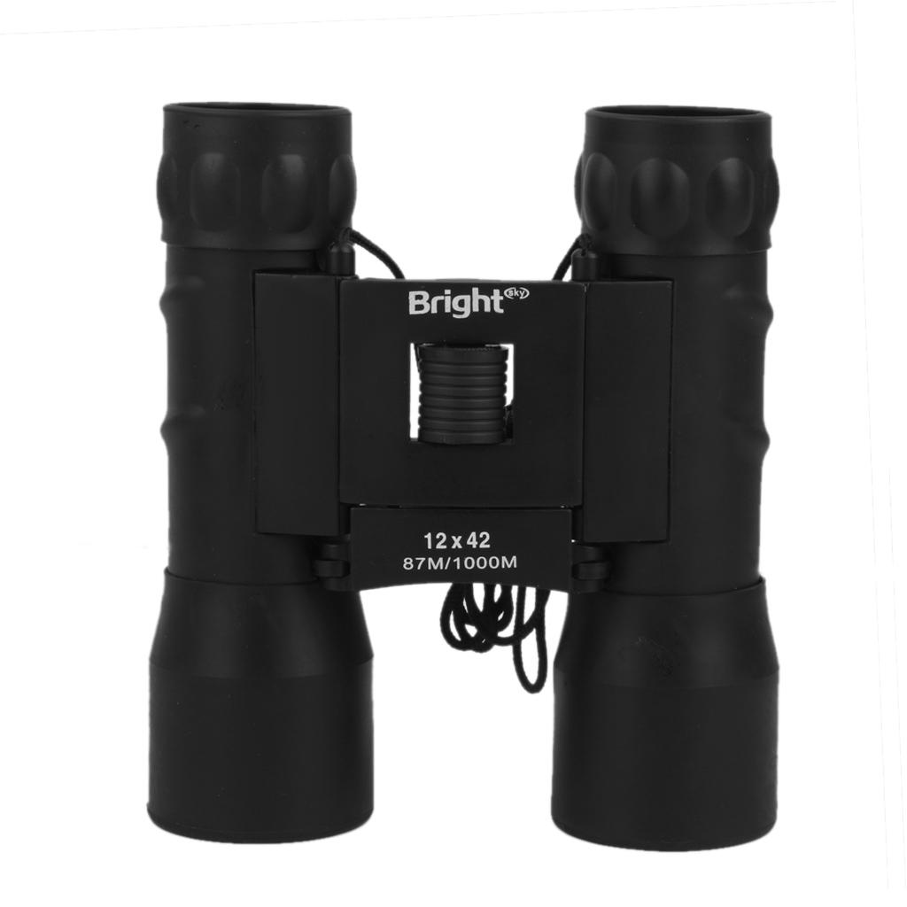 12x42 Compact Folding Roof Prism Binocular