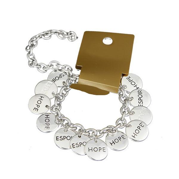 Silver Bracelet w/Hope Pendant