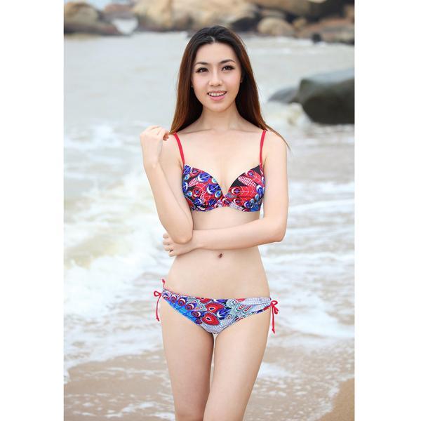 Sexy Bright Color Womens Swimwear Bikini US Size 16