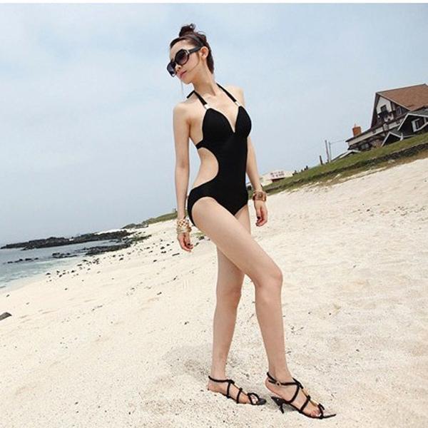 Womens One Piece Halter Bandeau Padded Wireless Monokini Swimwear Swimsuit US Size 10